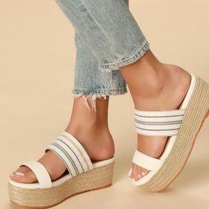 BRAND NEW never worn Lulu's platform shoes